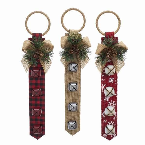 EXCEART Christmas Door Hanger Christmas Sleigh Bells Hanging Decor Xmas Tree Hanging Decoration Mini Christmas Bell for Xmas Tree Decorations