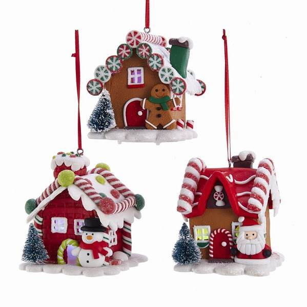 pick up 59706 47639 Battery Operated LED Lighted Gingerbread House Ornament