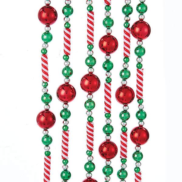 candy beadred ball garland