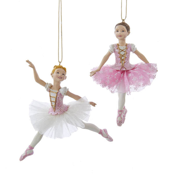 Jbigg S Little Pieces Byers Choice Carolers: White/Pink Ballerina Ornament