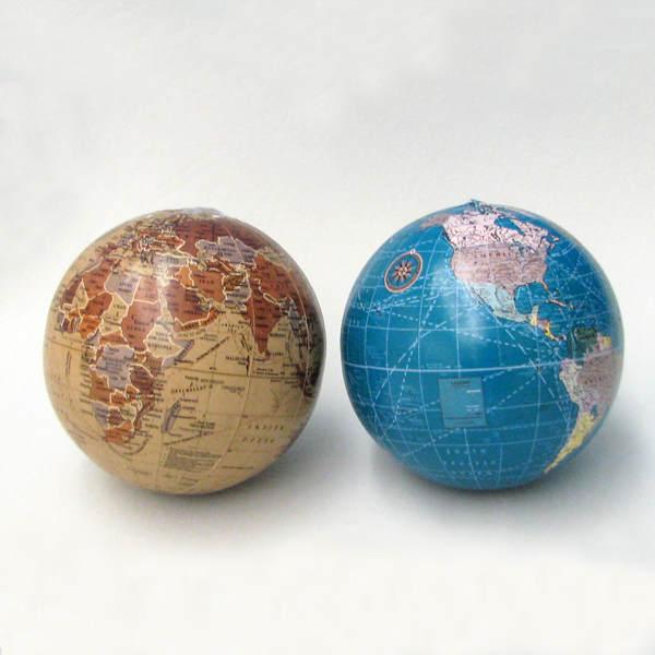 Tan Blue Earth Globe Ornament Item 103571 The
