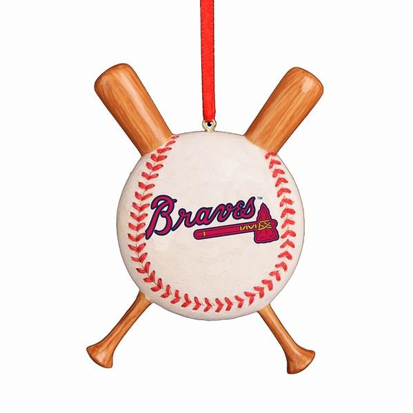 Atlanta Braves Baseball With Bats Ornament - Atlanta Braves Baseball With Bats Ornament - Item 104190 - The