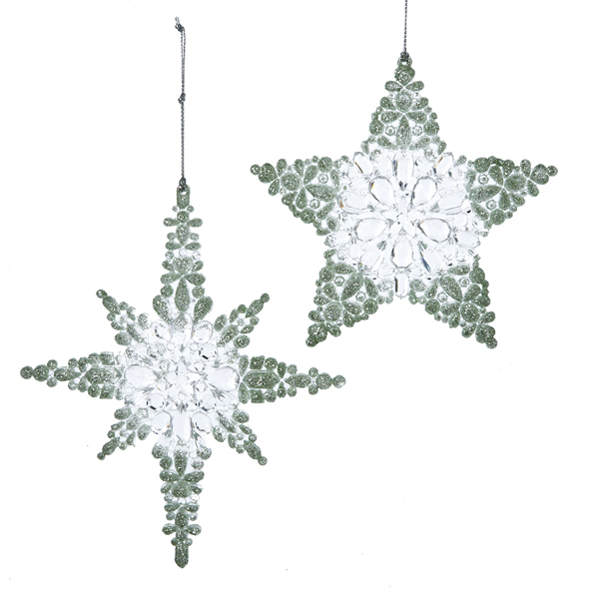 Green Clear North Star Ornament