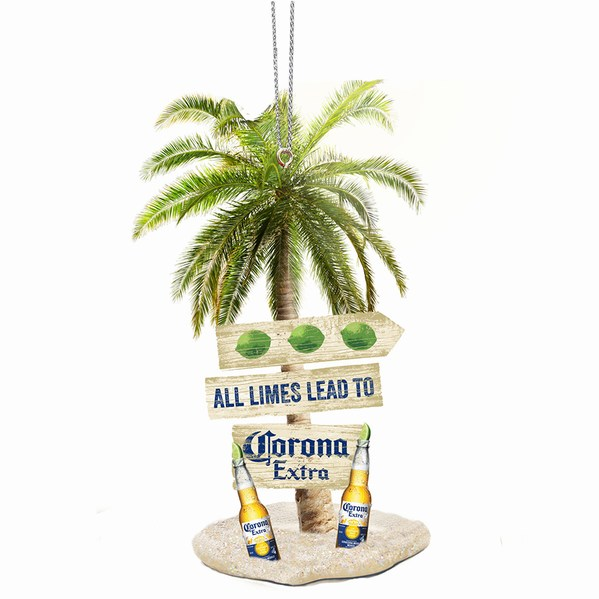 Corona Extra Bottles With Palm Tree And Sand Ornament Item 105607 The Christmas Mouse