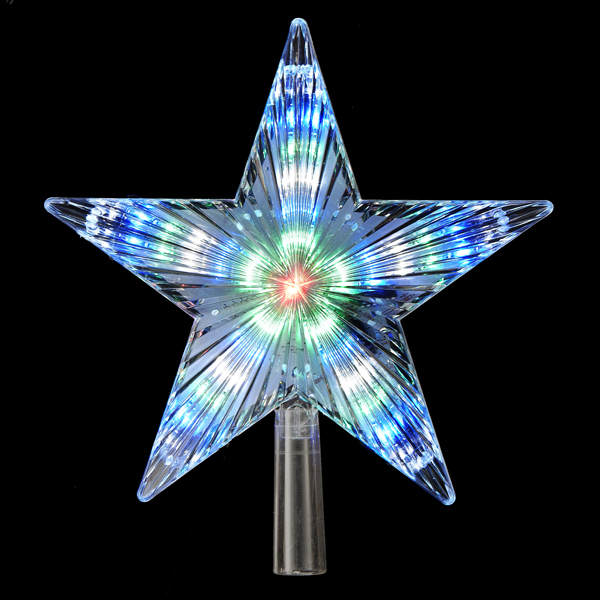 Color Changing Led Star Tree Topper With 31 Lights Item
