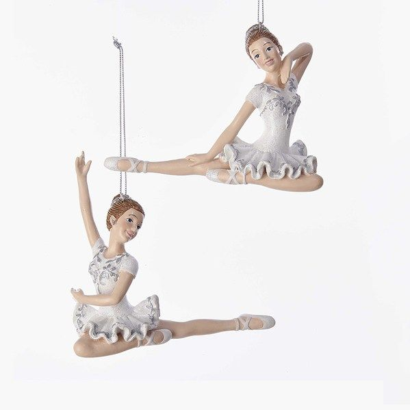 Jbigg S Little Pieces Byers Choice Carolers: Sitting Ballerina In White Dress Ornament