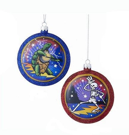 Grateful Dead Christmas Ornament.Grateful Dead Disc Ornament