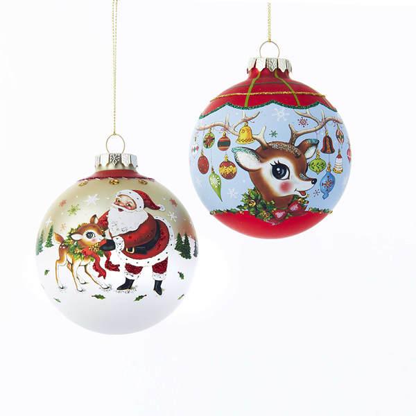 Santa Deer Ball Ornament Item 106529 The Christmas Mouse