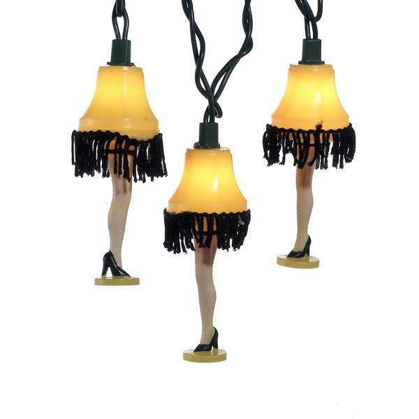 A Christmas Story Lamp.Set Of 10 A Christmas Story Leg Lamp Novelty Christmas Tree Lights With Green Wire Clear Bulbs
