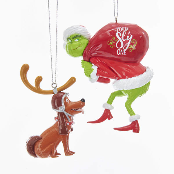 Max With Antlers Grinch With Sack Ornament Item 106767 The Christmas Mouse