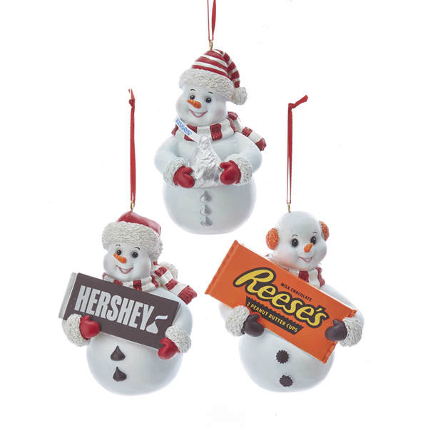 Hershey's/Kisses/Reese's Snowman Ornament - Hershey's/Kisses/Reese's Snowman Ornament - Item 106813 - The