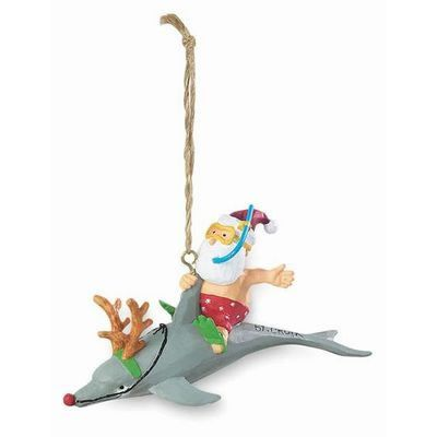 myrtle beach santa riding dolphin ornament - Christmas Mouse Myrtle Beach