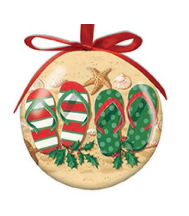myrtle beach holiday flip flops ball ornament - Christmas Mouse Myrtle Beach