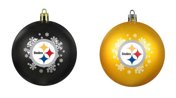 Pittsburgh Steelers Ball Ornament - Pittsburgh Steelers Ball Ornament - Item 141080 - The Christmas Mouse