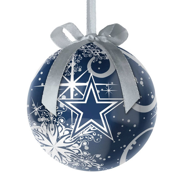 Dallas Cowboys Decoupage Snowflake Ball Ornament Item 141415 The Christmas Mouse