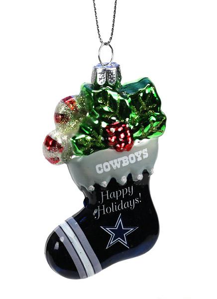Dallas Cowboys Christmas Hat.Dallas Cowboys Stocking Ornament