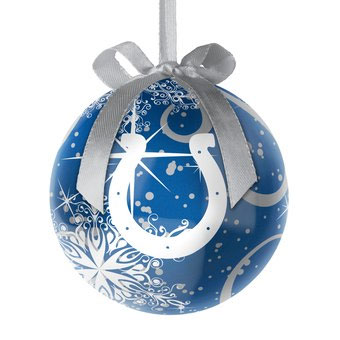 Indianapolis Colts Decoupage Snowflake Ball Ornament