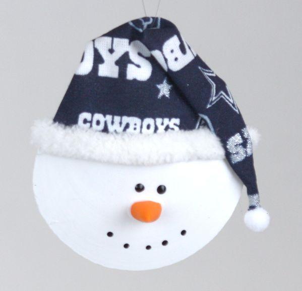 Dallas Cowboys Snowman Sun   Moon Shell Ornament - Item 151030 - The ... b29f4b0f7