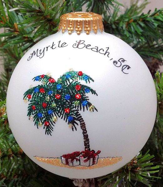 myrtle beach palm tree ornament - Christmas Mouse Myrtle Beach