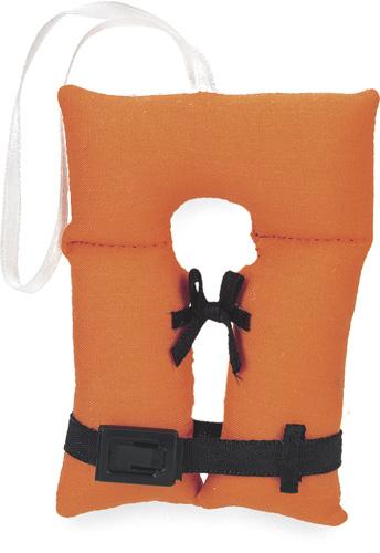 Orange Amp Black Life Jacket Ornament Item 261593 The