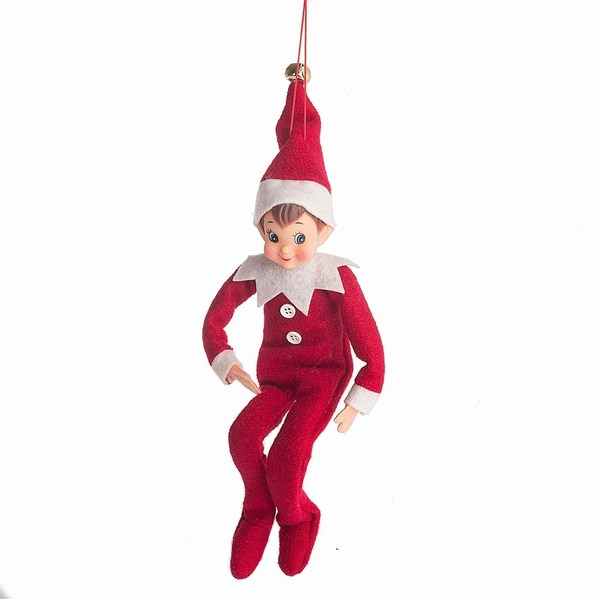 outlet store 3473d a87a0 Red/White Boy Elf Ornament