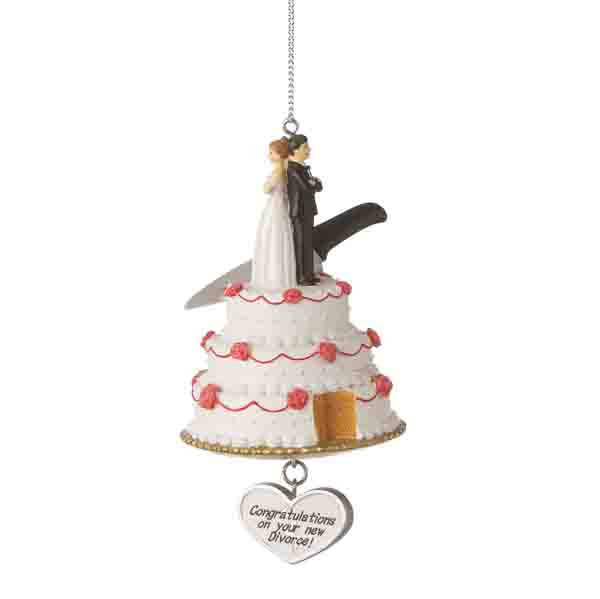 wedding cake christmas ornament wedding cake divorce ornament item 262220 the 8593