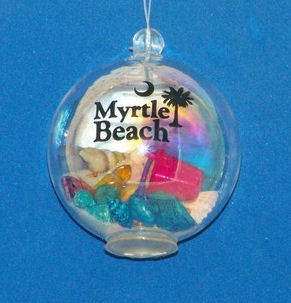 myrtle beach bubble ornament - Christmas Mouse Myrtle Beach