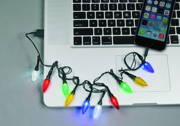 LED Christmas Bulb USB iPhone Charging Cable