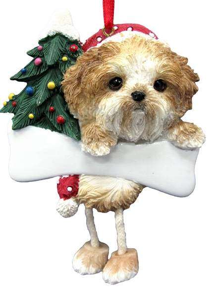 Tanwhite Shih Tzu Puppy Dangle Ornament Item 407050 The