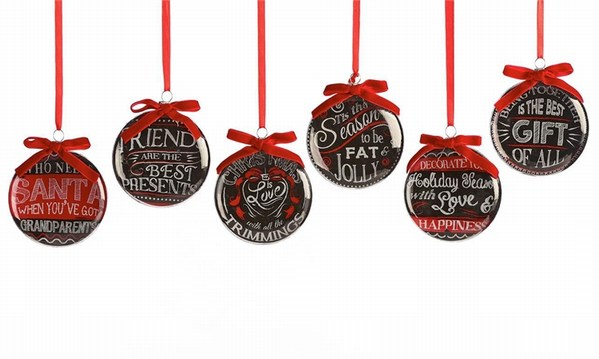 Holiday Sayings Chalk Talk Disc Ornament - Item 408640 ...