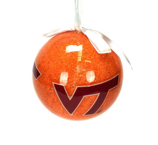 Virginia Tech Hokies Glitter Ball Ornament - Virginia Tech Hokies Glitter Ball Ornament - Item 416090 - The