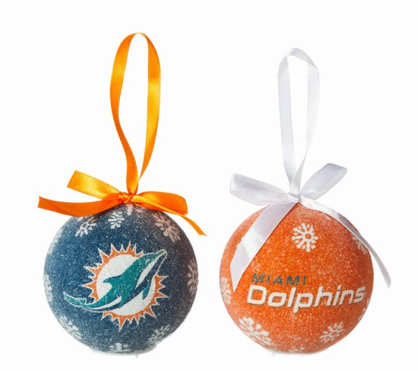 Miami Dolphins Light Up LED Ball Ornament - Miami Dolphins Light Up LED Ball Ornament - Item 420130 - The