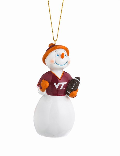 Virginia Tech Hokies Snowman Ornament - Virginia Tech Hokies Snowman Ornament - Item 420275 - The Christmas