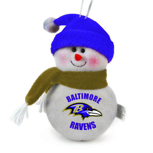 Baltimore Ravens Soft Snowman Ornament Item 420467 The Christmas