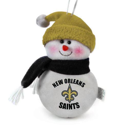 New Orleans Saints Christmas Ornaments.New Orleans Saints Soft Snowman Ornament