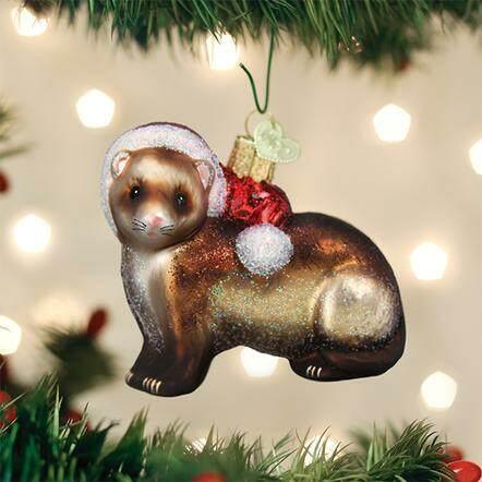 Christmas Ferret.Christmas Ferret Ornament