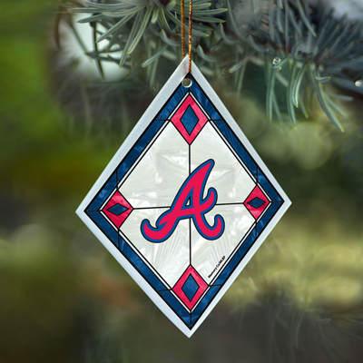 Atlanta Braves Diamond Ornament - Atlanta Braves Diamond Ornament - Item 432123 - The Christmas Mouse
