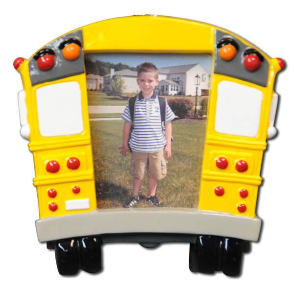 Yellow School Bus Photo Frame Ornament Item 459073 The Christmas