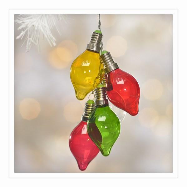 Light Bulb Christmas Ornaments.Strand Of Christmas Light Bulbs Ornament