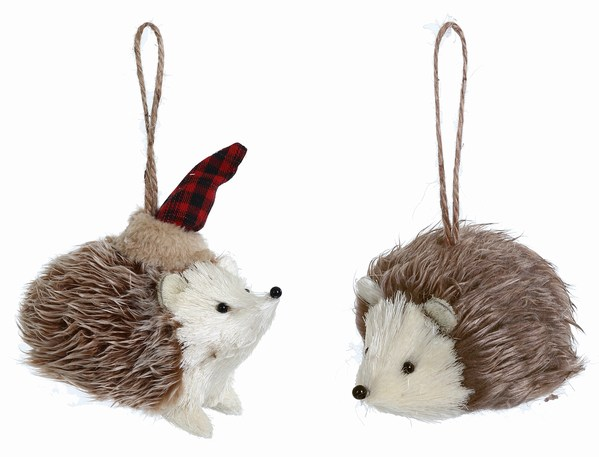 Natural Hedgehog Ornament - Natural Hedgehog Ornament - Item 505057 - The Christmas Mouse