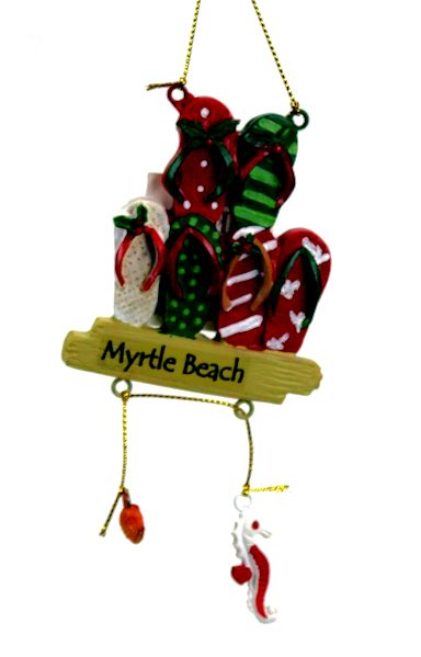 myrtle beach flip flops ornament - Christmas Mouse Myrtle Beach