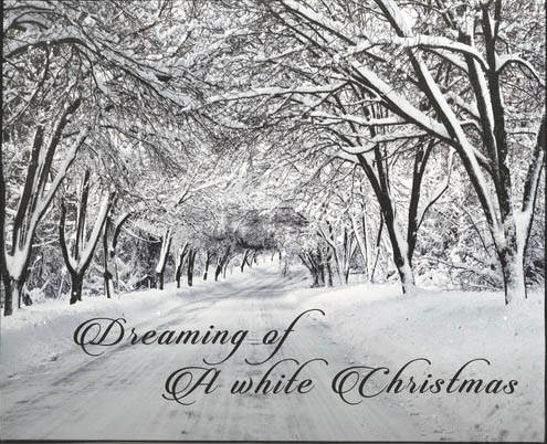 Dreaming Of A White Christmas.Lighted Dreaming Of A White Christmas Canvas Print