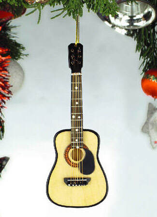 String Guitar With Pick Guard Ornament - Item 560003 - The Christmas ...