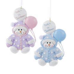 snowman babys first christmas ornament