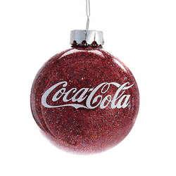 glittered coca cola ball ornament