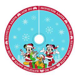mickeyminnie tree skirt - Blue Christmas Tree Skirt