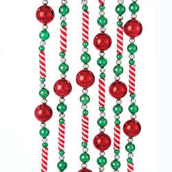 candy beadred ball garland - Christmas Beaded Garland Decorations