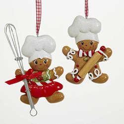 Gingerbread Boy Chef Ornament