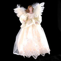 Ivory Angel Tree Topper With 10 Lights