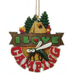 mosquito i love camping ornament - Camper Christmas Decorations